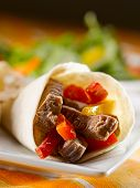 fajitas with beef and peppers