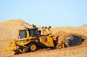 Bulldozer Woodchips