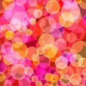 Vector - Illustration of overlapping colorful dots pattern for background abstract
