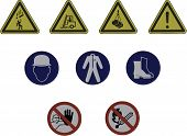 Construction Site Safety Signs Illustration