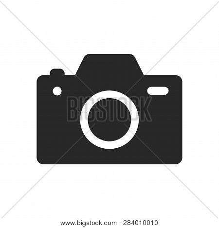poster of Photo Camera Icon Isolated On White Background. Photo Camera Icon In Trendy Design Style. Photo Came