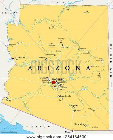 Arizona Political Map With Capital
