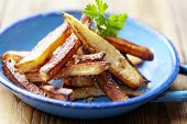 homemade french fries, made from hand cut potatoes