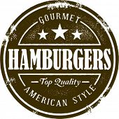 Vintage Style Hamburger Stamp
