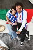 Fußball-Fans feuerten die italienische Mannschaft