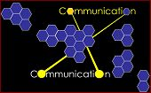 Communication As An Important Part Of  A Single Organism.   The Picture Shows One Of The Types Of Co poster