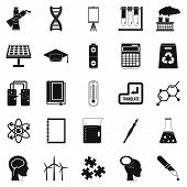 Academic Degree Icons Set. Simple Set Of 25 Academic Degree Icons For Web Isolated On White Backgrou poster