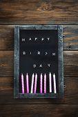 Birthday Background. Birthday Celebration With Copy Space. Birthday Greeting Card poster