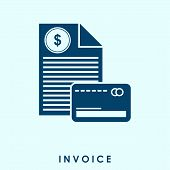 Invoice Icon In Trendy Design Style. Invoice Icon Isolated On White Background. Invoice Vector Icon  poster