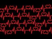 Cardiograma. 3D imagen abstracta