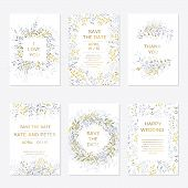 Romantic Tender Floral Design For Wedding Invitation, Save The Date, I Love You And Thank You Cards. poster
