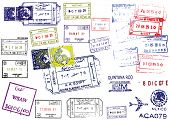 Passport Stamps. This image is a vector illustration and can be scaled to any size without loss of r
