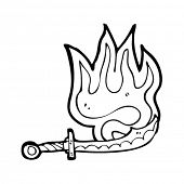 flaming cutlass cartoon
