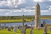 The monastery of Clonmacnoise, Ireland