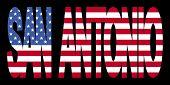 Постер, плакат: Сан Антонио текст с флагом
