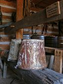 Rusty Buckets In Barn