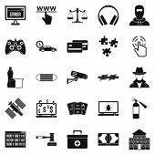 Software Developer Icons Set. Simple Set Of 25 Software Developer Icons For Web Isolated On White Ba poster