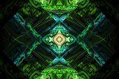 Fraktal Fractal Wallpaper Black And Colorful Geometric Shapes Illustrate Space Universe Magic Freque poster