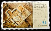GERMANY- CIRCA 1986: stamp printed by Germany, shows ruins of Troy, circa 1986.