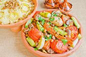 foto of tagine  - Moroccan couscous and  - JPG
