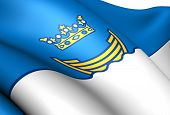 Vlag van Helsinki, Finland.