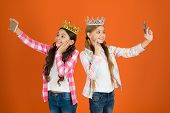 Egocentric Princess. Kids Wear Golden Crowns Symbol Princess. Warning Signs Of Spoiled Child. Avoid  poster