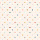 Cute Colorful Abstract Geometric Seamless Pattern With Small Triangles, Petals, Dots, Confetti. Vect poster