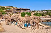 Beautiful beach and rocky coastline landscape, Sithonia, Greece poster
