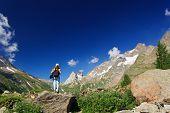 Hiker In Ferret Valley
