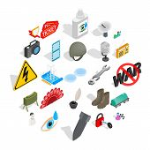 Labor Icons Set. Isometric Set Of 25 Labor Vector Icons For Web Isolated On White Background poster