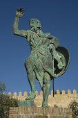Statue Of Ibn Marwan, founder ff Badajoz
