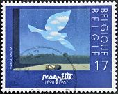 BELGIUM - CIRCA 1998: A stamp printed in Belgium shows the painting