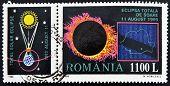 ROMANIA - CIRCA 1998: A stamp printed in Romania shows Total Eclipse of the Sun circa 1998