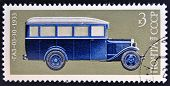 USSR - CIRCA 1974: A stamp printed in Russia shows Russian car