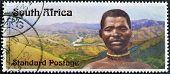 SOUTH AFRICA - CIRCA 2006: A stamp printed in RSA dedicated to Centennial Bhambatha Rebellion circa