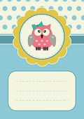 Birthday card with owlet