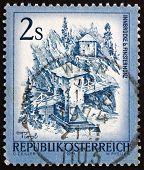 Postage stamp Austria 1974 Inn Bridge, Alt Finstermunz, Tirol