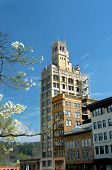 pic of asheville  - Image features historic downtown Asheville North Carolina in spring - JPG