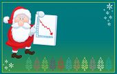 Santa Claus with negative christmas card  chart