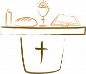 stock photo of eucharist  - christian symbols  - JPG