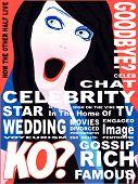 Capa de revista de celebridades
