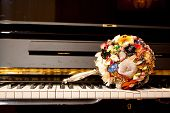 Brooch Bouquet On Piano