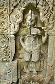 picture of concubine  - detail of carvings in angkor thomUNESCO world heritagecambodia - JPG