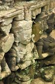 Detail of the ancient stone sculpture in Angkor Wat. Cambodia.