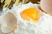 Raw Egg In Flour