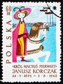 Briefmarke Polen 1962 König zu Pferd, Abbildung