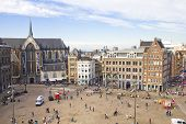 Aerial View Of The Dam Square, Amsterdam