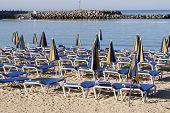 Hammocks Near The Seaside In Blue