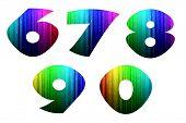 6-0 Colorful Computer Alphabet