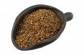 Scoop Of Brown Flax Seeds